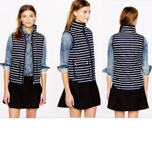 J. Crew Excursion Quilted Vest in Stripe